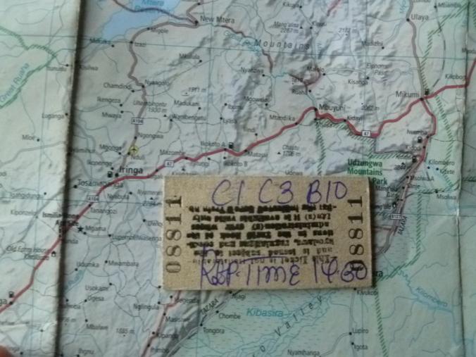 Fahrtkarte_Tazara_Karte_Tansania
